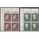 Mi. Nr. 143-146 Eckrandviererblock links oben postfrisch