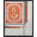 Mi. Nr. 126 Eckrandstück rechts unten postfrisch