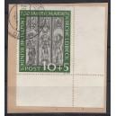 Mi. Nr. 139 im Eckrand rechts unten auf Briefstück