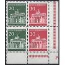 Mi. Nr. 508 senkrechtes Paar Eckrand rechts unten mit Druckerzeichen P postfrisch