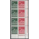 Mi. Nr. 508 Viererstreifen Eckrand rechts unten mit Druckerzeichen Ge postfrisch