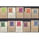 Mi. Nr. 123 bis 133 Einmalige Zusammenstellung der Briefstücke mit Ersttagssonderstempel