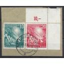 Mi. Nr. 112 V Eckrand rechts oben gestempelt auf Briefstück