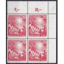 Mi. Nr. 112 im Eckrandvierer rechts oben mit Plattenfehler 112v