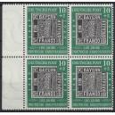 Mi. Nr. 113 mit Plattenfehler F32, F42 im Viererblock