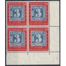 Mi. Nr. 114 mit Plattenfehler 114IV im Eckrandvierer rechts unten