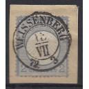 Mi. Nr. 20 auf Briefstück Luxus