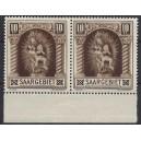 Mi. Nr. 103 und 103 mit Plattenfehler II als Unterrandpaar postfrisch.