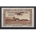 """Mi. Nr. 198 mit Plattenfehler I (""""Blitzableiter"""" auf dem Kirchendach) postfrisch und geprüft von Hoffmann."""