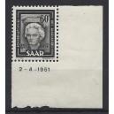Mi. Nr. 273 BR (Druckdatum: 02.04.1951) im Eckrand rechts unten postfrisch