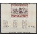 Mi. Nr. 291 BR mit Druckdatum 03.04.50 unten mit komplettem Leerfeld postfrisch.