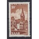 "Mi. Nr. 296 mit Plattenfehler I (""Ballon"" rechts neben Kirchturm) postfrisch"