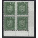 Mi. Nr. 163 Eckrandviererblock rechts unten mit Formnummer 2 postfrisch mit Kurzbefund von Hans-Dieter Schlegel. Schön!
