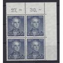 Mi. Nr. 166 Eckrandviererblock rechts oben postfrisch mit Kurzbefund von Hans-Dieter Schlegel.