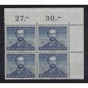 Mi. Nr. 150 Eckrandviererblock rechts oben postfrisch mit Kurzbefund von Hans-Dieter Schlegel.