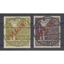 Mi. Nr. 33 und 34 mit Rotaufdruck perfekt zentrisch gestempelt Berlin Charlottenburg as. Luxus!! Attest von Hans-Dieter Schlege