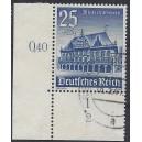 Mi. Nr. 758 im Eckrand links unten mit Plattennummer 2 gestempelt