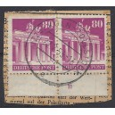 Mi. Nr. 94 W A Paar mit Plattennummer gestempelt auf Briefstück