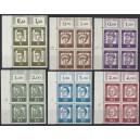 Mi. Nr. 199 - 213 Eckrandvierer links oben postfrisch
