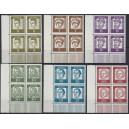 Mi. Nr. 199 - 213 Eckrandvierer links unten postfrisch
