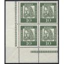 Mi. Nr. 202 Eckrandvierer links unten postfrisch