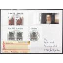 Mi. Nr. 2255 linker Rand in Rasterung II auf portogerechtem Brief