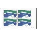 Mi. Nr. 2278 C II Viererblock zentrisch gestempelt auf Briefstück