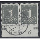 Mi. Nr. 226xv Unterrandpaar mit Hausauftragsnummer und Druckerzeichen gestempelt