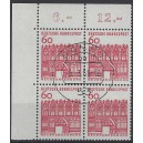 Mi. Nr. 459 im Eckrandviererblock links oben zentrisch gestempelt
