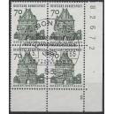 Mi. Nr. 460 im Eckrandviererblock rechts unten zentrisch gestempelt mit ESST und Formnummer