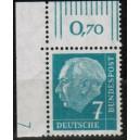 181xvW postfrisches Eckrand links oben mit Druckerzeichen 1 positiv
