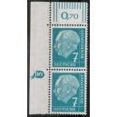 181xvW postfrisches Eckrand links oben mit Druckerzeichen 10 positiv
