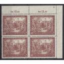 Mi. Nr. 941 II als postfrischer Eckrandviererblock rechts oben mit kompletter, spiegelverkehrter Plattennummer 3