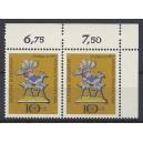 Mi. Nr 610 waagerechtes Eckrandpaar rechts oben s4