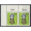 Mi. Nr 572 waagerechtes Eckrandpaar links oben s4