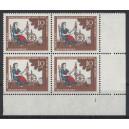 Mi. Nr 538 Eckrandviererblock rechts unten Formnummer 1 s6