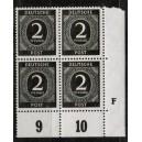 Mi. Nr. 912 Druckerzeichen (DZ) F