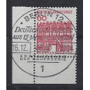 Mi. Nr. 459 im Eckrand links unten mit Ersttagssonderstempel Berlin