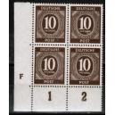 Mi. Nr. 918 Druckerzeichen (DZ) F Eckrand links unten