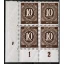 Mi. Nr. 918 Druckerzeichen (DZ) F Eckrandvierer links unten