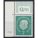 Mi. Nr. 182 Eckrandstück links oben mit Druckerzeichen 2
