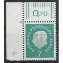 Mi. Nr. 182 Eckrandstück links oben mit Druckerzeichen 4