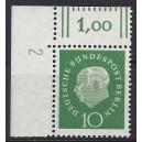 Mi. Nr. 183 Eckrandstück links oben mit Druckerzeichen 2