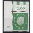 Mi. Nr. 183 Eckrandstück links oben mit Druckerzeichen 5