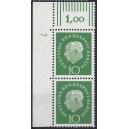 Mi. Nr. 183 senkrechtes Eckrandpaar links oben mit Druckerzeichen 7