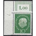 Mi. Nr. 183 Eckrandstück links oben mit Druckerzeichen 7