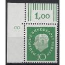 Mi. Nr. 183 Eckrandstück links oben mit Druckerzeichen 8