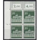 Mi. Nr. 507 als Eckrandviererblock links oben mit Druckerzeichen 7 postfrisch