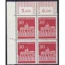 Mi. Nr. 508 Eckrandviererblock links oben DZ 7 postfrisch
