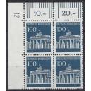 Mi. Nr. 510 als Eckrandviererblock links oben mit Druckerzeichen 12 postfrisch